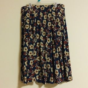 Lularoe Large hippie boho floral skirt